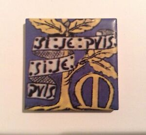William Morris Family Crest Tile Fridge Magnet Red House Porch Tiles