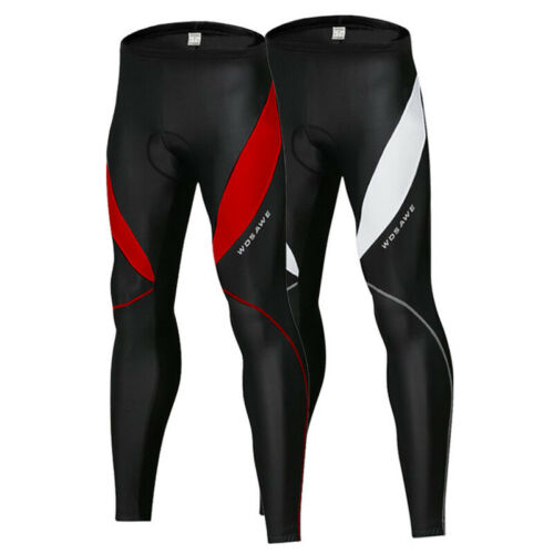 Mens Womens Cycling Bike Tights Thermal Padded Long Pants Legging Trouser Sports
