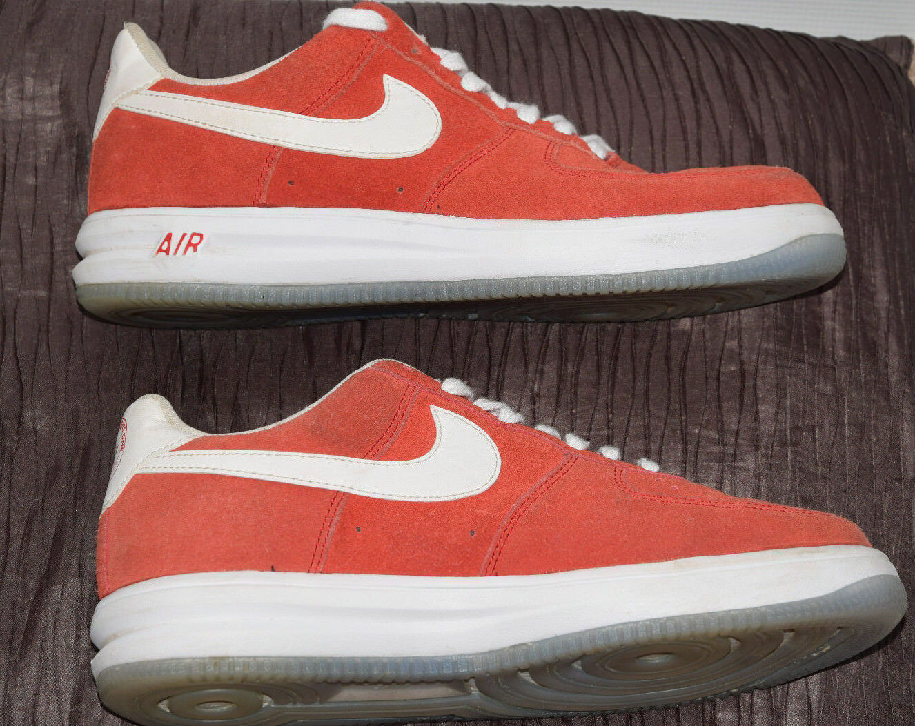 Nike lunar force 1 sneakers red us 9 eu 42.5 27cm sedue leather