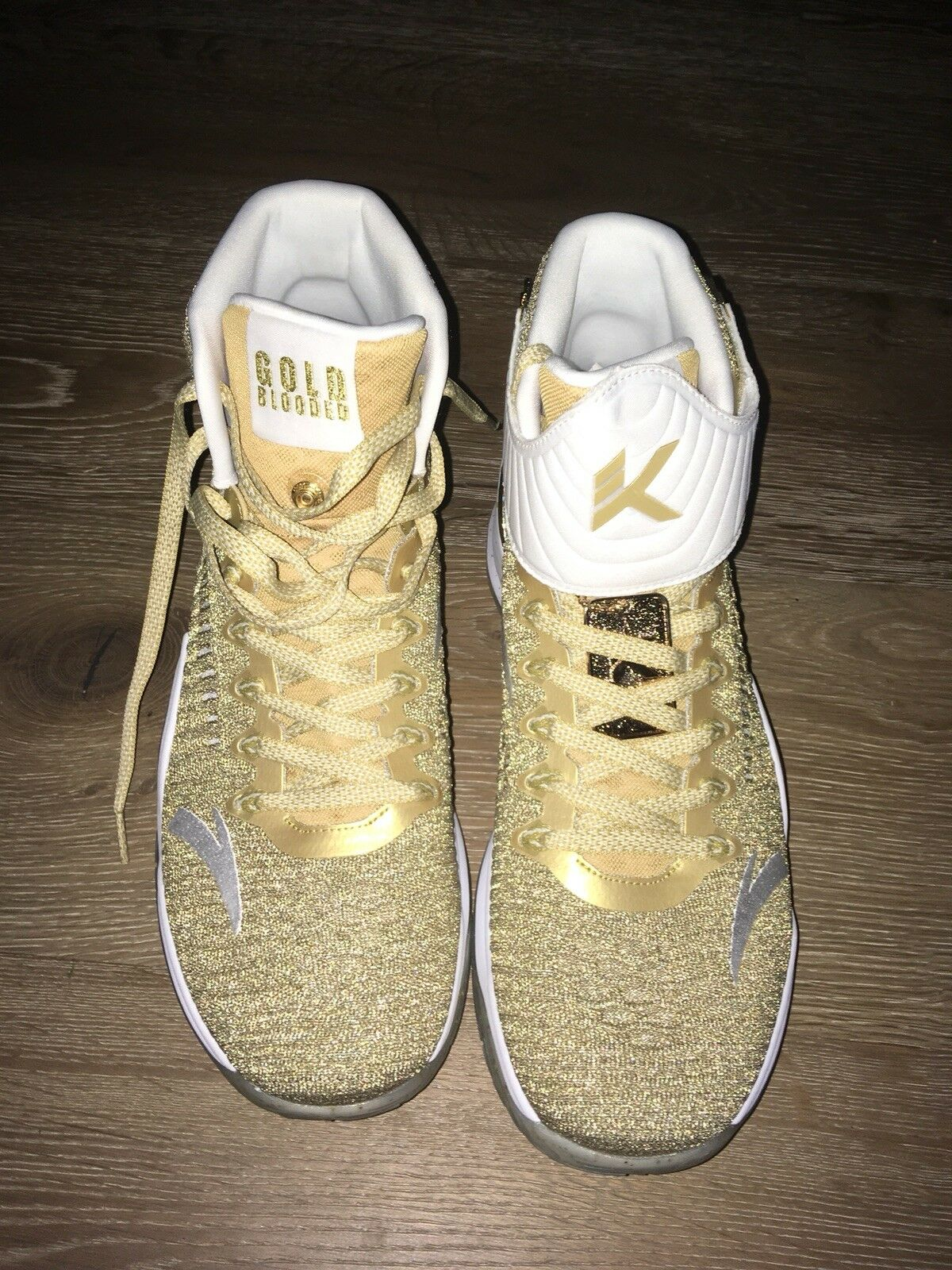 """Anta Kt3 """"Gold Blooded"""" Shoes Size 10.5 (used In commercial)"""