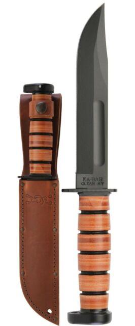 KA-BAR 1317 Dog's Head Utility Knife w/ Leather Sheath with 2 Day shipping