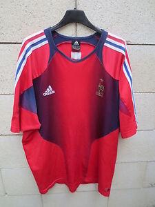 VINTAGE-Maillot-Equipe-de-FRANCE-training-ADIDAS-2004-shirt-epoque-ZIDANE-XXL