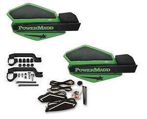 Powermadd Star Series LED Handguards Guards Orange Black Mount All Sport ATV/'s