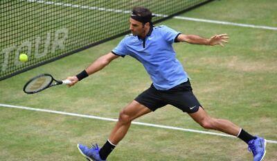 Mens Nike Roger Federer RF Premier Tennis ShirT Halle Tour 2018