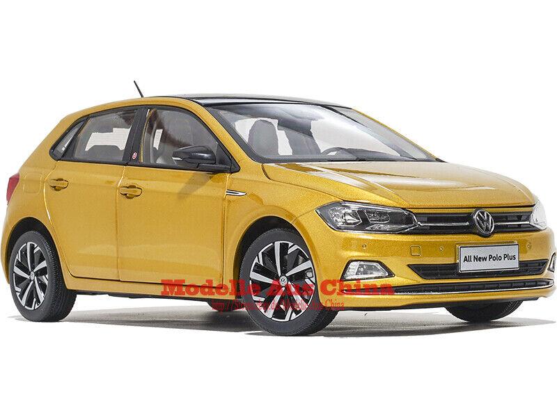 1 18 SAIC Volkswagen 2019 Polo Plus Gold (Gold) Händler Auflage