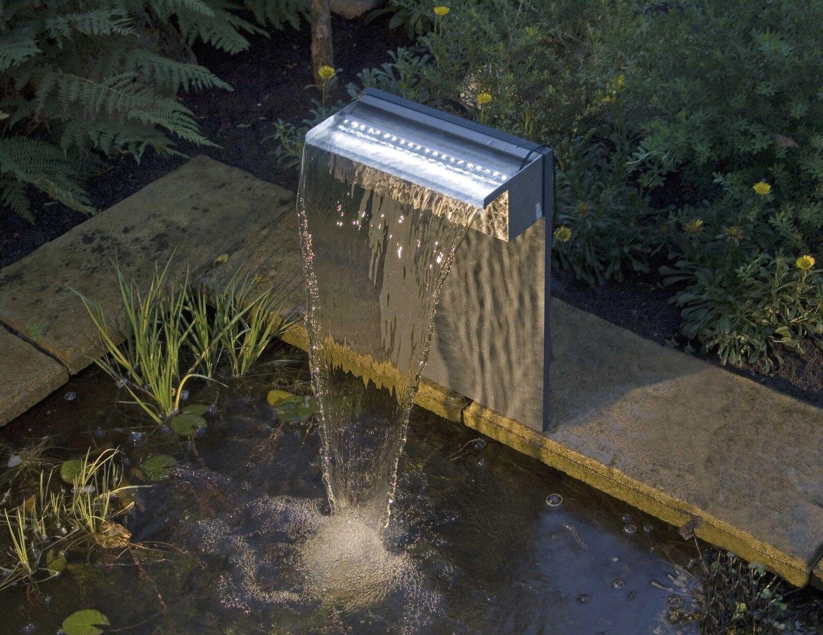 Ubbink Design-cascada Niagara 30 Inox con LED, agua caso cásCochea, juego de agua