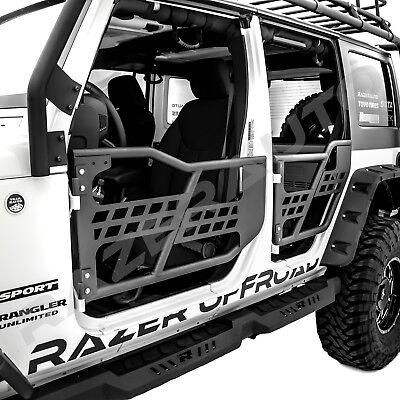 Jeep Wrangler JK Off Road Front /& Rear Tubular Guards Textured Black Rock Crawler for 2007 2008 2009 2010 2011 2012 2013 2014 2015 2016 2017 2018 Jeep JK Wrangler Unlimited 4 Door Set