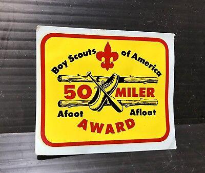 Patch Vtg Boy Scouts Of America 50 Miler Award Afoot Afloat Hike /& Boat