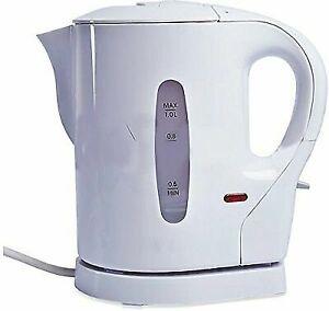 Denny International 900W 1L Electric Hot Water Jug - White