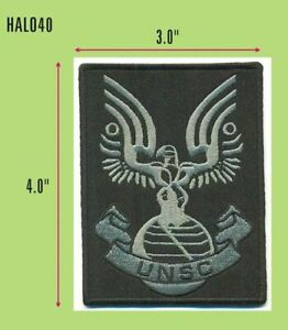 HALO TACTICAL GRAY ON BLACK UNSC UNIFORM PATCH HALO40
