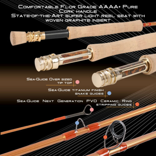 Maxcatch Skyhigh Gold Fly Fishing Rod 5//6//8WT 9FT with IM12 Toray Carbon Blank