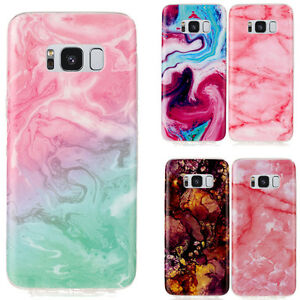 Marble-Pattern-Silicone-Soft-TPU-Rubber-Case-Cover-For-Samsung-Galaxy-S8-A3-2017