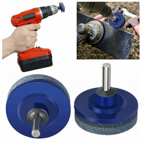 2PCS Rotary Lawn Mower Lawnmower Blade Sharpener Garden Tool For Power Drill