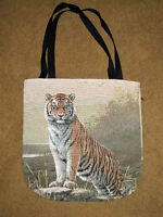Regal Tiger Tapestry Tote Carry-all Bag Artist, Joseph Hautman