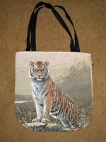 Regal Tiger Tapestry Tote Carry-all Bag Artist, Joseph Hautman