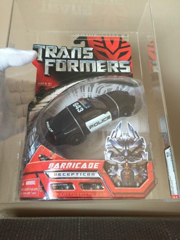 Hasbro 2007 BARRICADE Transformers Movie Deluxe classee  Stunning  AFA 85 85 90   prima qualità ai consumatori