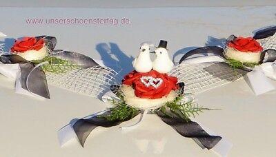 Blumen, Blüten & Girlanden Hochzeitsdekoration Treu Autoschmuck Hochzeit Brautauto Autogirlande Gothik Au0015 Sonderangebot Buy One Give One