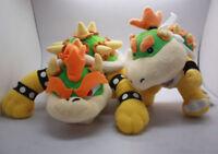 2pcs Super Mario Bros King Bowser Koopa and Jr. Plush Stuffed Figure Doll Toy