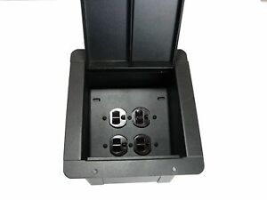 ProCraft-Recessed-Stage-Floor-Pocket-Box-2-AC-Duplex-4-Outlets-Made-in-USA