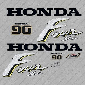 Honda 9.9hp 4 stroke outboard engine decals//sticker kit
