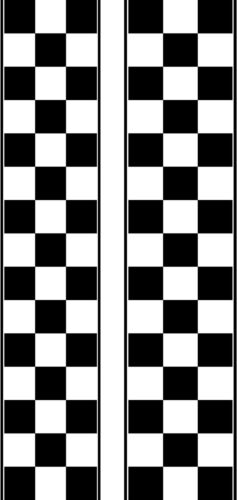 DECAL HOOD STRIPE #48 CHECKERED DESIGN COOL CAR TRUCK TAILGATE AUTO VEHICLE NEW