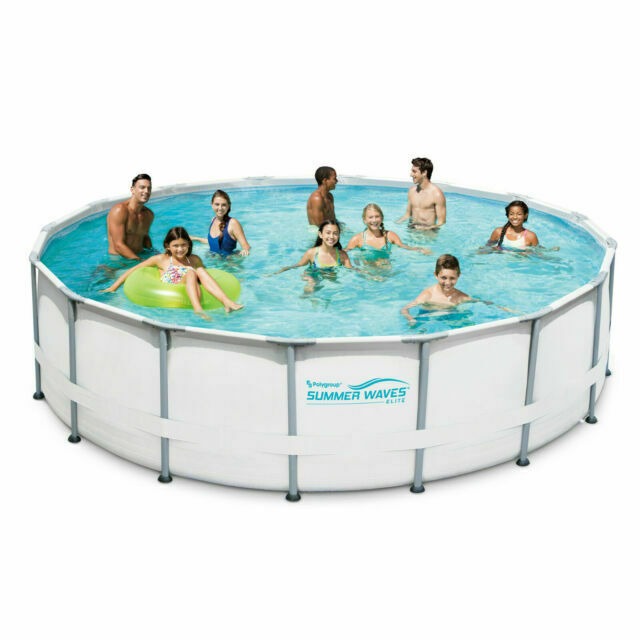 Summer Waves P4a01648b167 Elite 16 X 48 Inch Above Ground Swimming Pool Set With Pump For Sale Online Ebay