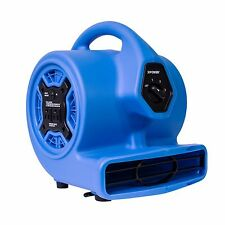 XPOWER P-100A Mini Air Mover Carpet Dryer Blower Floor Fan w/ Build-in Outlets