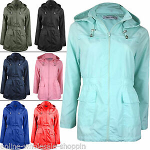 Womens-Brave-Soul-Fishtail-Hooded-Light-weight-Ladies-Raincoat-Jacket-Size-8-24