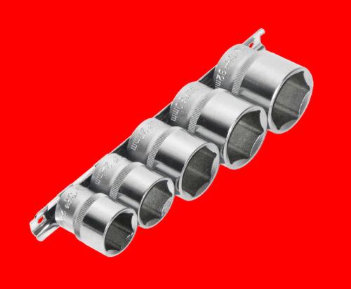 """5 pcs courtes 1//2/"""" douilles clés à douille 6 pans Ecrou taille 22-24-27-30-32 mm yu"""