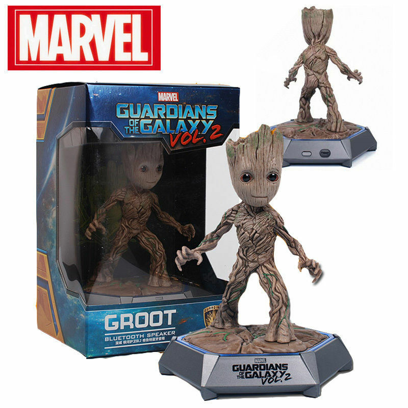 Marvel Guardians of the Galaxy 2 Groot Action Figures Blautooth Speaker LED Toy