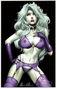 LADY DEATH LINGERIE NAUGHTY VIOLET ART PRINT - MIKE ...