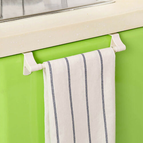 Kitchen Towel Rack Hanging Holder Organizer Bathroom Cabinet Cupboard Hanger Fil