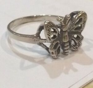 Sterling-Silver-Butterfly-Ring-Size-K
