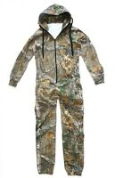 Mens Hunters Oak Camo Onesie Gents Hooded Jump Suit Stealth Camping All In One