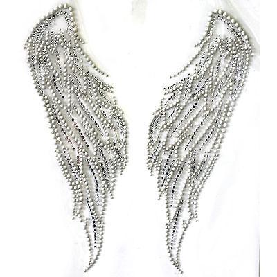 Rhinestone Iron on Transfer Hot fix Motif crystal Fashion Design  Wings of peace