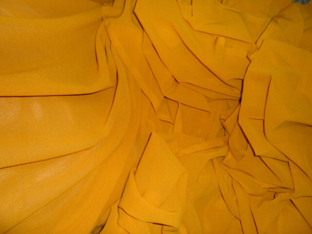"""1 MTR   MUSTER ED   POLYESTER CHIFFON FABRIC.....45"""" WIDE"""