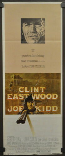 JOE KIDD 1972 ORIG 14X36 MOVIE POSTER CLINT EASTWOOD ROBERT DUVALL JOHN SAXON