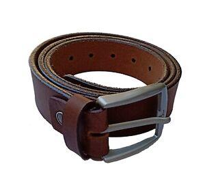 Mens Vintage Full Grain Leather Black Belt