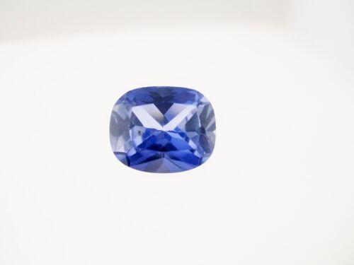 1.38ct Loose Emerald Cushion Cut Lab Created Blue Ceylon Gemstone 12 x 10mm