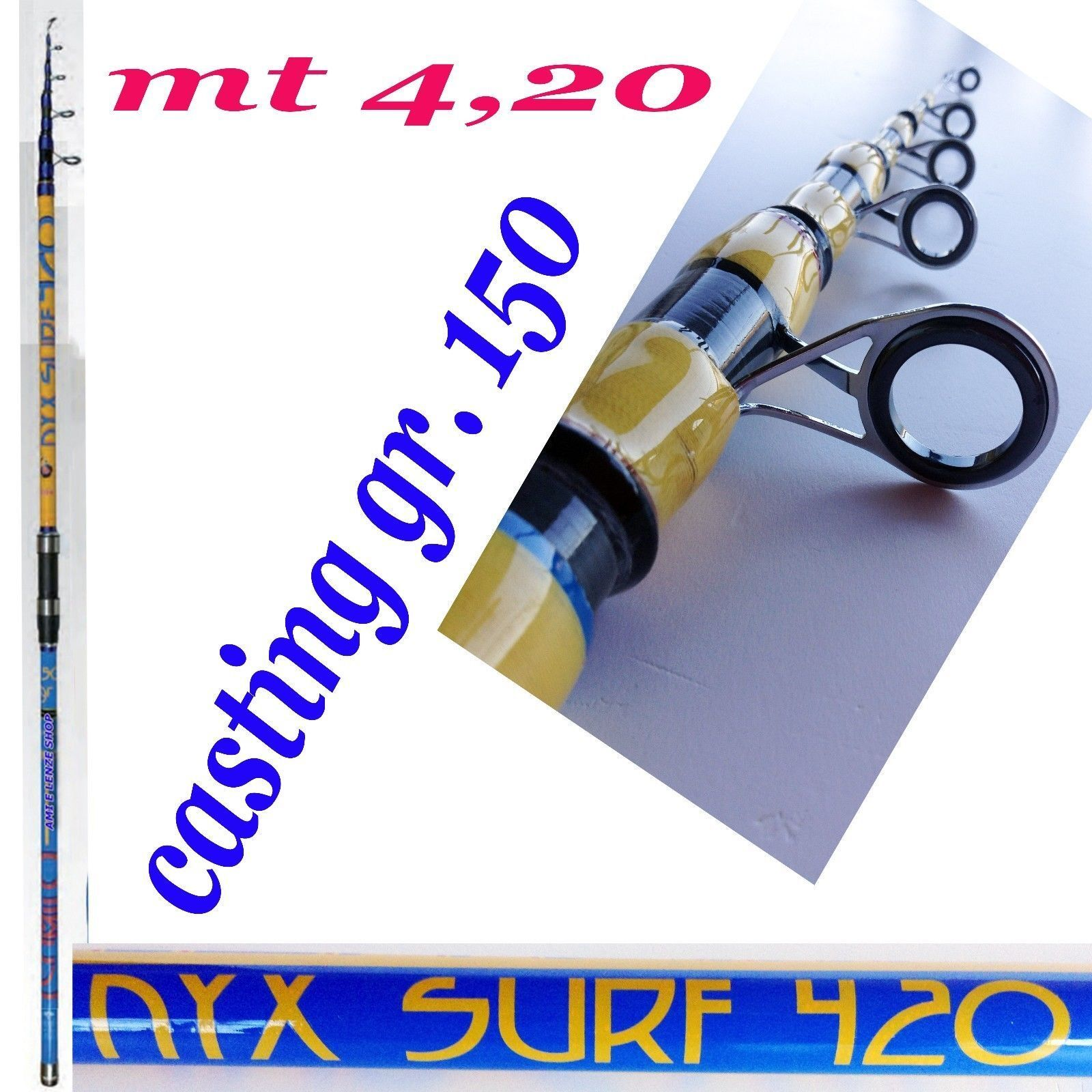 CANNA SURFCASTING autoBONIO MT 4,20 AZ.GR 150 PESCA MARE ORATA MORMORA