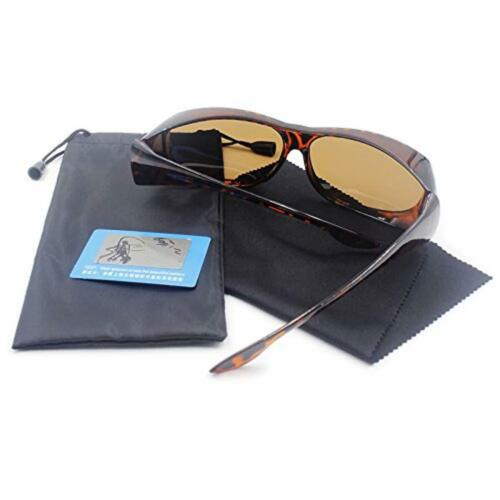 Wear Over sunglasses men women Polarized lens,fit over Prescription Glasses UV40