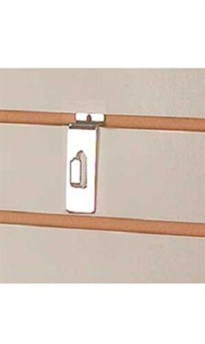 100 Notch Hooks Hook Slatwall Slat Wall Picture Frame Photo Hanger Chrome