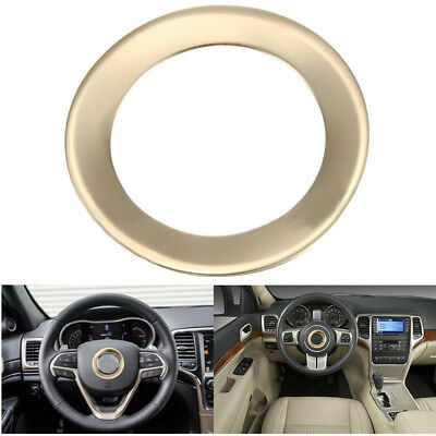 Carbon fiber Steering Wheel Cover Trim For Jeep Cherokee 2014-19 Grand Cherokee