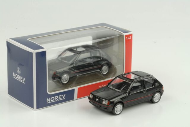 Peugeot 205 Gti 1985 Black Jet Car 1:43 Norev Diecast