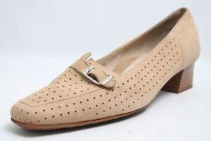Ara-Pumps-beige-Leder-Schuhweite-G-Relax-Fussbett-Gr-38-UK-5