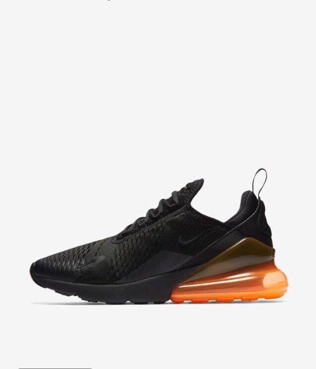 Nike Air Max 270 noir Total Orange Taille 11.5 AH8050 008 w