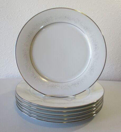 "6 Noritake Cumberland 2225 Dinner Plates 10 1//2/"""