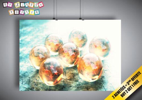 Poster 7 Boules de cristal Drangon Ball Z Super Anime Manga Wall Art
