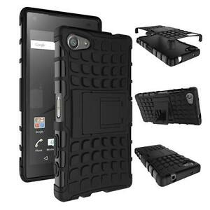 big sale af7d1 51425 Details about Sony XPERIA Z5 COMPACT [Slim Armour] Tough Shock Proof Case  Stand + LCD Guard