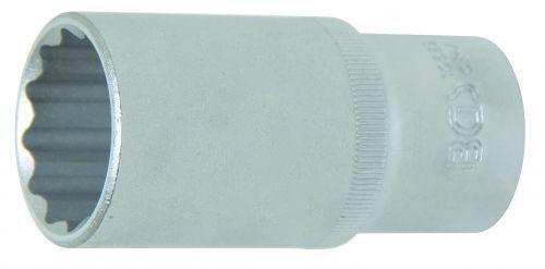 28 mm 10689 BGS Steckschlüssel-Einsatz 12-Kant tief 12,5 1//2